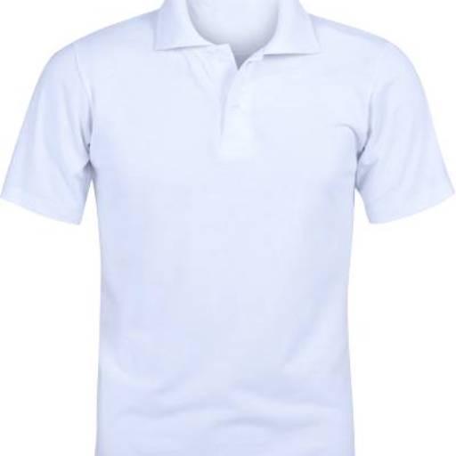 Polo Pique Branca (feminina e masculina) Personalizadas (a pronta entrega) por Stryl Uniformes