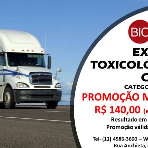 Comprar o produto de EXAME TOXICOLÓGICO PARA MOTORISTA - CNH em Saúde pela empresa Bioclínica Análises Clínicas em Jundiaí, SP por Solutudo