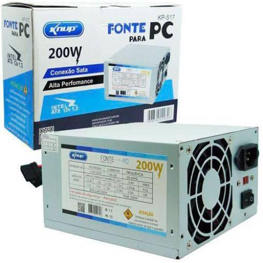 FONTE PC KP-517 KNUP 200W em Botucatu, SP por Multi Consertos - Celulares, Vídeo Games, Informática e Eletrônica