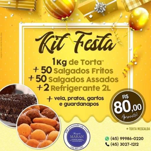 Comprar o produto de Kit Festa  em Alimentos pela empresa Famiglia Maran Panificadora, Confeitaria e Restaurante 24h em Foz do Iguaçu, PR por Solutudo