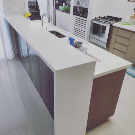 Comprar o produto de Cozinha em Silestone White Storm em Reformas pela empresa Copedras Marmoraria em Jundiaí, SP por Solutudo