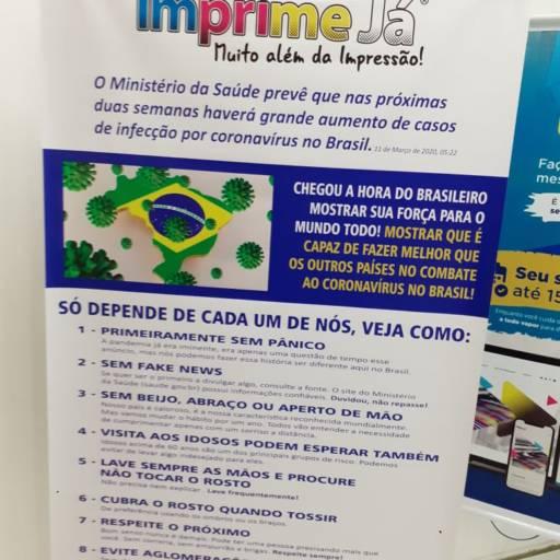 Banner Orientações Ministério da Saúde COVID  em Atibaia, SP por Imprime Já Atibaia
