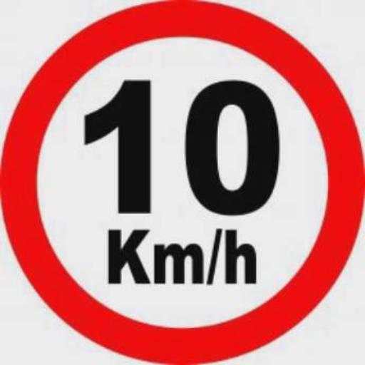 Placa de Sinalização 10 Km/H Diamentro de 40Cm/1,5mm  por EPI.COM - Equipamentos de Segurança do Trabalho