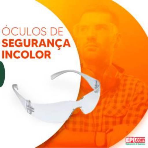 Óculos de segurança incolor por EPI.COM - Equipamentos de Segurança do Trabalho