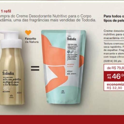 Pronta Entrega - Creme Desodorante Nutritivo Natura Todo Dia por Lavanderia Mary
