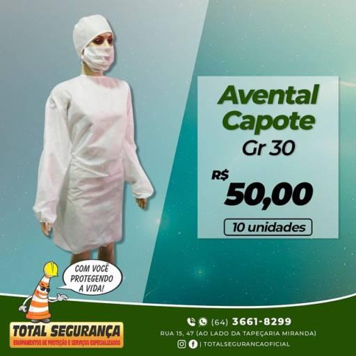 Comprar o produto de Avental Capote Gr 30 em Equipamentos Odontológicos pela empresa Total Segurança em Mineiros, GO por Solutudo