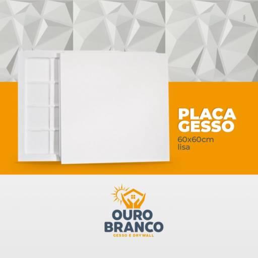 Placa Gesso 60x60 por Gesso Ouro Branco