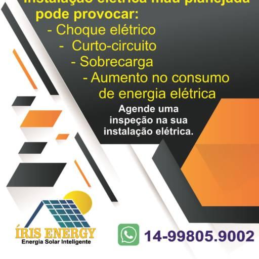 Agende uma Inspeção na sua Instalação Elétrica por íris Energy Energia Solar Inteligente