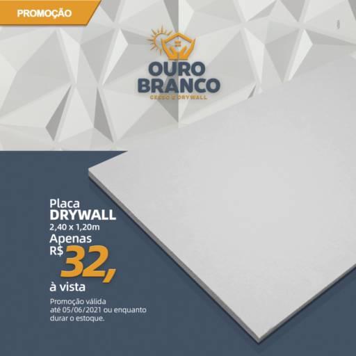 Placa DryWall por Gesso Ouro Branco