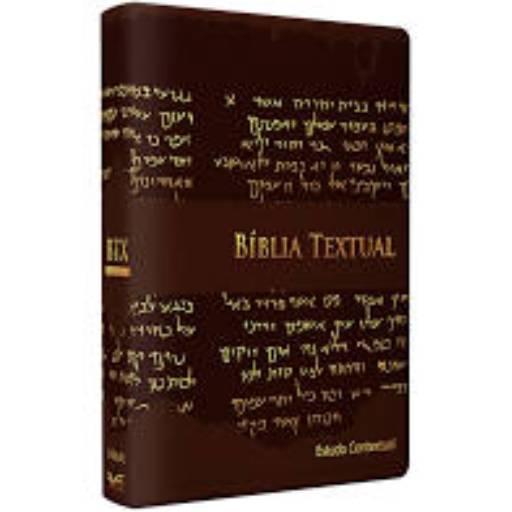 Bíblia Textual - Luxo Marrom Estudo contextual em Jundiaí, SP por Kemuel - livraria cristã
