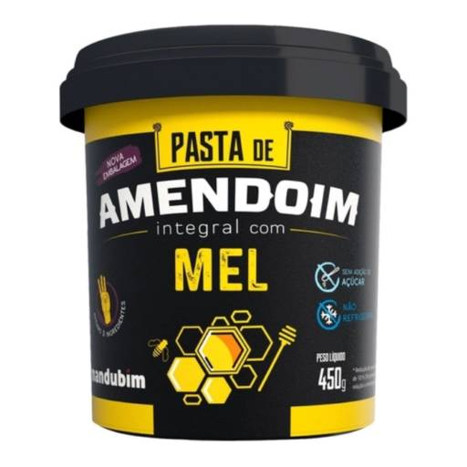 Pasta de Amendoim integral Mel ( Mandubim) em Foz do Iguaçu, PR por Viva Natural