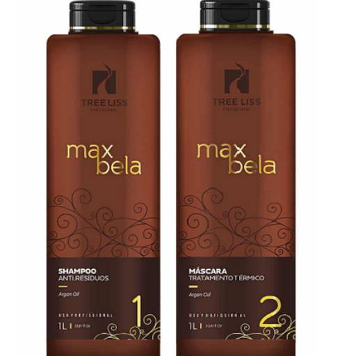 Kit Max Bela Máscara Tratamento Térmico + Shampoo Antí- Residuos 1 litro da Tree liss por Maryton Cosméticos e Acessórios