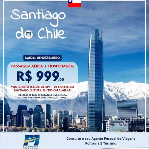Comprar o produto de SANTIAGO DO CHILE em Viagens e Turismo pela empresa Poltrona 1 Turismo - Nova Odessa em Americana, SP por Solutudo