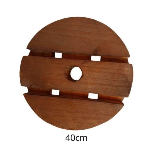 Suporte madeira redondo roda gel em Botucatu, SP por Botucatu Garden
