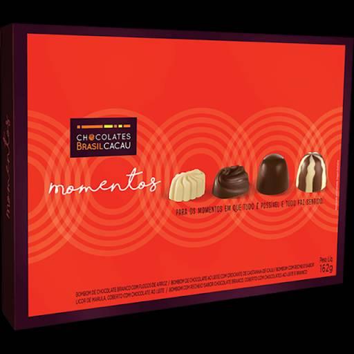 Comprar o produto de Caixa Momentos 162g em Sobremesas pela empresa Chocolates Brasil Cacau Botucatu em Botucatu, SP por Solutudo