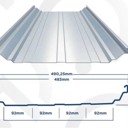 Comprar o produto de Telha Zipada em Telhas pela empresa Globo Aços Calhas e Telhas em Americana, SP por Solutudo