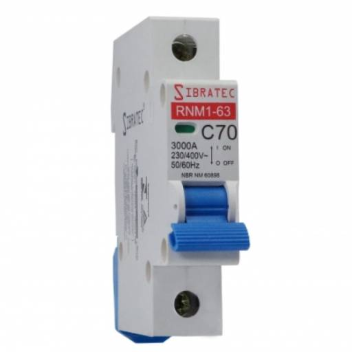 SIBRATEC DISJUNTOR UNIPOLAR 16A DIN SRNM1-C  6KA por Multi Energia Instalações e Materiais Elétricos