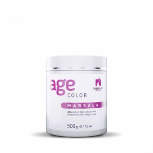 Máscara Ativadora Tons Marsala Age Color 500g – Coconut Oil + Argan Oil da Tree liss por Maryton Cosméticos e Acessórios