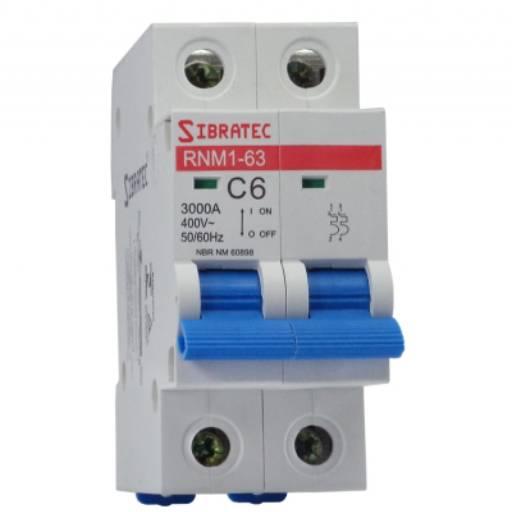 SIBRATEC DISJUNTOR BIPOLAR 50A DIN SRNM1-C  6KA por Multi Energia Instalações e Materiais Elétricos