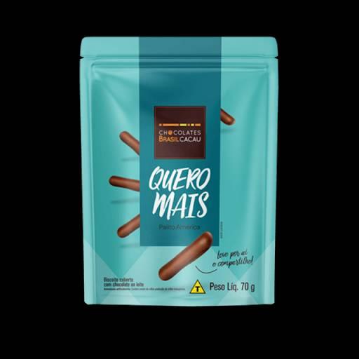 Comprar o produto de Quero Mais América 70g em Sobremesas pela empresa Chocolates Brasil Cacau Botucatu em Botucatu, SP por Solutudo