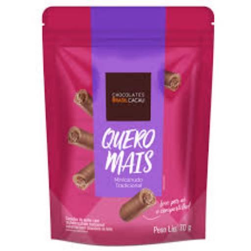Comprar o produto de Quero Mais Minicanudo Tradicional 70g em Sobremesas pela empresa Chocolates Brasil Cacau Botucatu em Botucatu, SP por Solutudo
