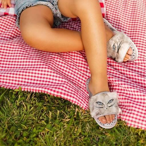 Pantufas Infantis Femininas  por Lojas Conceito Confecções e Calçados - Vestindo e Calçando Toda a Família