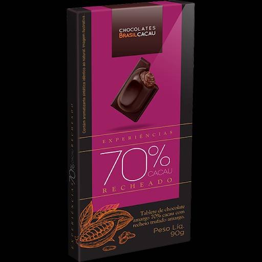 Comprar o produto de Tablete trufado 70% cacau 90g em Sobremesas pela empresa Chocolates Brasil Cacau Botucatu em Botucatu, SP por Solutudo