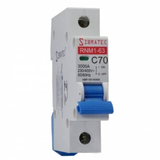 SIBRATEC DISJUNTOR UNIPOLAR 50A DIN SRNM1-C  6KA por Multi Energia Instalações e Materiais Elétricos