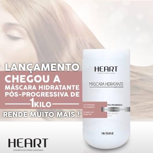 MASCARÁ HIDRATANTE TRATAMENTO PÓS PROGRESSIVA HEART 1 KILO em Araçatuba, SP por Maryton Cosméticos e Distribuição Multimarca