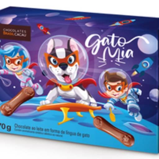 Comprar o produto de Gato Mia Turma da Brasil Cacau 70g em Sobremesas pela empresa Chocolates Brasil Cacau Botucatu em Botucatu, SP por Solutudo